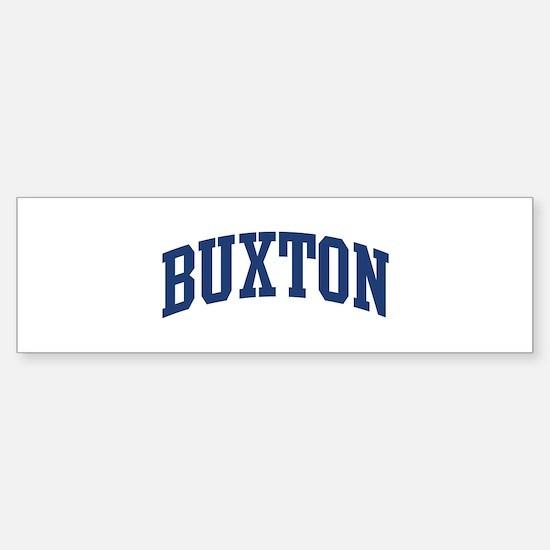 BUXTON design (blue) Bumper Bumper Stickers