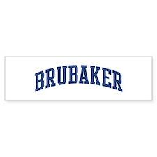 BRUBAKER design (blue) Bumper Bumper Sticker