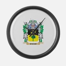 Kaiser Coat of Arms - Family Cres Large Wall Clock