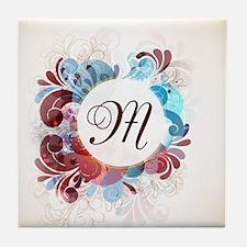 Floral Monogram Tile Coaster