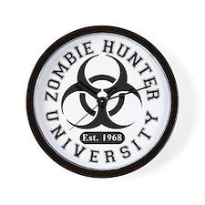 A Zombie Hunter University Wall Clock
