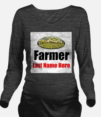 Farmer Long Sleeve Maternity T-Shirt