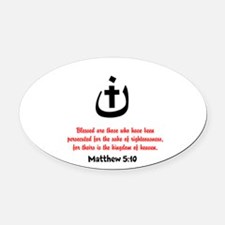 Persecuted Oval Car Magnet