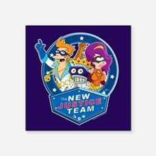 "Futurama New Justice Team Square Sticker 3"" x 3"""