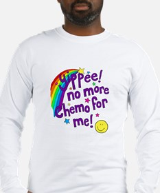 No more chemo - purple.BMP Long Sleeve T-Shirt