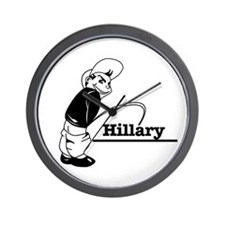 Piss on Hillary Wall Clock