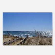 Beach walkway Postcards (Package of 8)