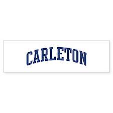 CARLETON design (blue) Bumper Bumper Sticker