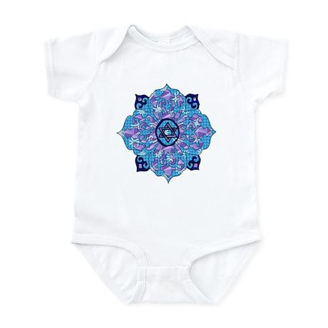 Blue Hanukkah Mandela Infant Bodysuit