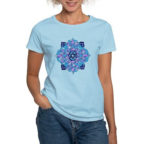 Blue Hanukkah Mandela Women's Light T-Shirt