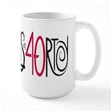 40 and fabulous Large Mugs (15 oz)