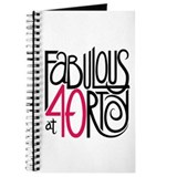 40th birthday Journals & Spiral Notebooks
