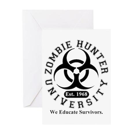 A Zombie Hunter University Greeting Card