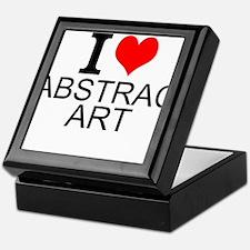 I Love Abstract Art Keepsake Box