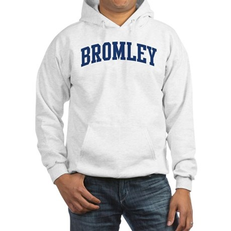 BROMLEY design (blue) Hooded Sweatshirt