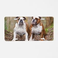 Funny English bulldog Aluminum License Plate