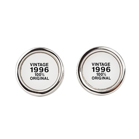Vintage 1996 Birthday Designs Round Cufflinks