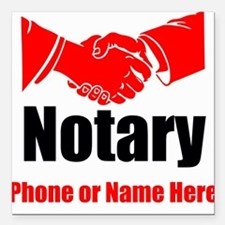 """Notary Square Car Magnet 3"""" x 3"""""""