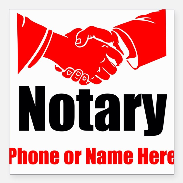 "Notary Square Car Magnet 3"" x 3"""
