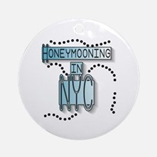 Blue Honeymoon NYC Ornament (Round)