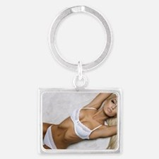 Cute Naked sexy girls Landscape Keychain