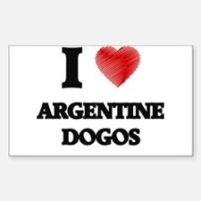 I love Argentine Dogos Decal