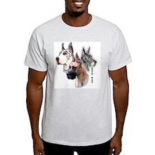 Three Danes Full Color Ash Grey T-Shirt