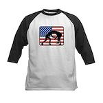 American Wrestling Kids Baseball Jersey