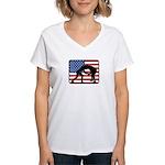 American Wrestling Women's V-Neck T-Shirt