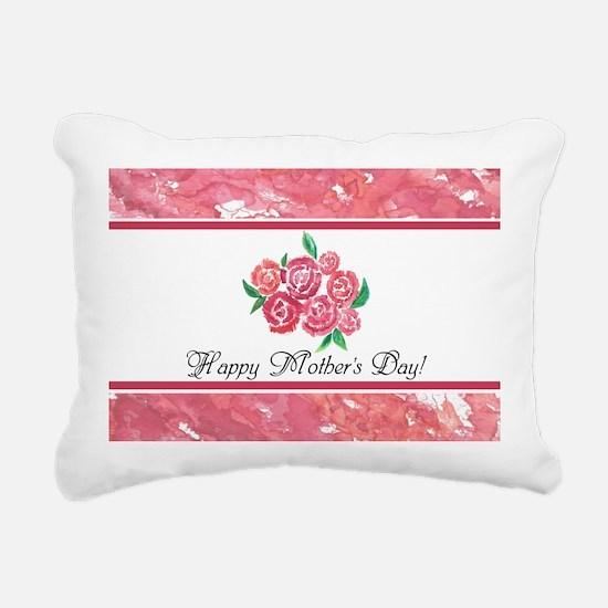 Mothers Day Rose Bouquet Rectangular Canvas Pillow