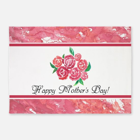 Mothers Day Rose Bouquet to Customi 5'x7'Area Rug