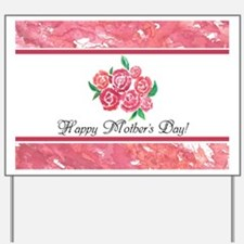 Mothers Day Pretty Pink Flowers Personal Yard Sign