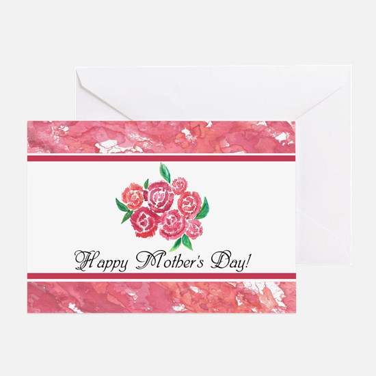 Mothers Day Pretty Pink Flowers Pers Greeting Card