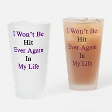 Cute Domestic violence survivors Drinking Glass