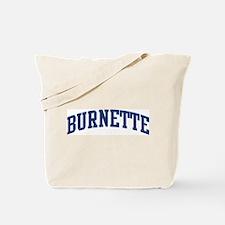 BURNETTE design (blue) Tote Bag