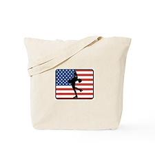 American Womens Ice Skating Tote Bag