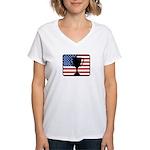 American Winner Women's V-Neck T-Shirt