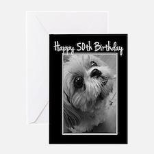 50th Birthday Shih Tzu Greeting Cards