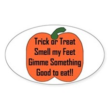 Smell my Feet Oval Decal