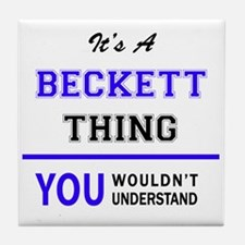 It's BECKETT thing, you wouldn't unde Tile Coaster