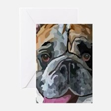 English Bulldog Face Greeting Cards (Pk of 20)
