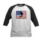 American Swimming Kids Baseball Jersey