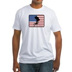 American Swimming Fitted T-Shirt