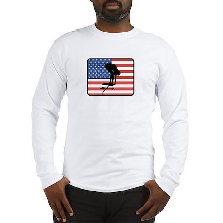 American Swimming Long Sleeve T-Shirt