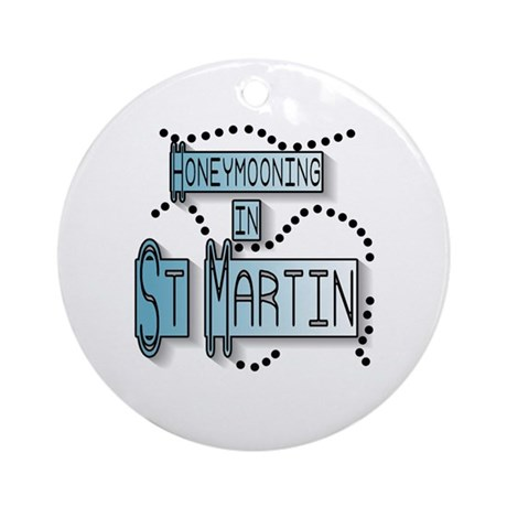 Blue Honeymoon St. Martin Ornament (Round)
