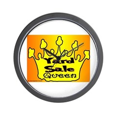 Yard Sale Queen Wall Clock
