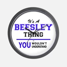 It's BEESLEY thing, you wouldn't unders Wall Clock