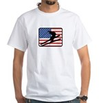 American Skiing2 White T-Shirt
