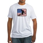 American Skiing2 Fitted T-Shirt