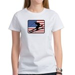 American Skiing2 Women's T-Shirt